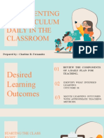 Implementing a Curriculum Daily in the Classroom