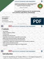DFMA case study on food processor