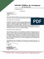 Oficio al alcalde William Dau del Alumbrado Publico