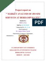Market Analysis of Jio Sim Services at Berhampur City