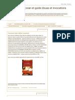 Les secrets du coran et guide douas et invocations musulman_ juillet 2017