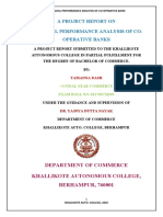 Financial Performance Analysis of Co-operative Banks