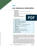 Fragmentation Applications aux substances industrielles