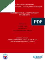 EC GIM324 - Electronique Analogique et Numérique