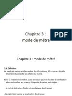 chapitre 3 metre