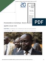 Présidentielle en Centrafrique_ Bozizé soutient la rébellion et appelle à ne pas voter