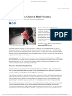 How Criminals Choose Their Victims _ Psychology Today