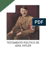 Testamento Politico de Adolf Hi - Adolf Hitler