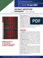 L'Effroyable Imposture + Le Pentagate - Communiqué de presse