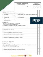 Devoir de Contrôle N°1 - Physique - 1ère AS  (2010-2011) Mr Adam Bouali (1)
