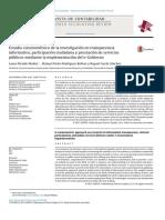 2014- Estudio cienciométrico de la investigación en transparencia informativa, participación ciudadana y prestación de servicios públicos mediante la implementación del e-Gobierno