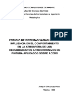 estudio de las variable del comportamiento atmosferico de recubrimientos vinilicos
