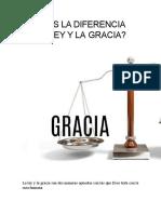 CUÁL ES LA DIFERENCIA DE LA LEY Y LA GRACIA