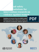 Ethical and safety recommendations for intervention research on violence against women