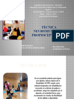 TÈCNICA NEUROMUSCULAR PROPIOCEPTIVA PNF