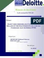 Audit des immobilisations corporelles et retraitements en vue du passage aux normes IFRS DN