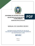 Manual do Usuário DEVEC - Versão 1.1 de 16.01.2018
