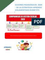 Informe de Acciones Pedagogicas 2020 en El Marco de La Estrategia Aprendo en Casa Reglamentado Rvmn273 1
