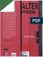 LIVRO WALTER LIPPMANN - OPINIÃO PÚBLICA