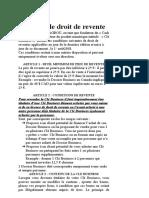 LICENCE DE DROITDE REVENTE