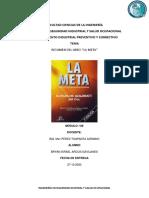 ANALISIS DEL LIBRO LA META