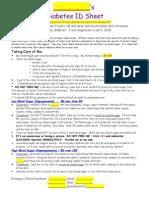 Diabetes Fact Sheets
