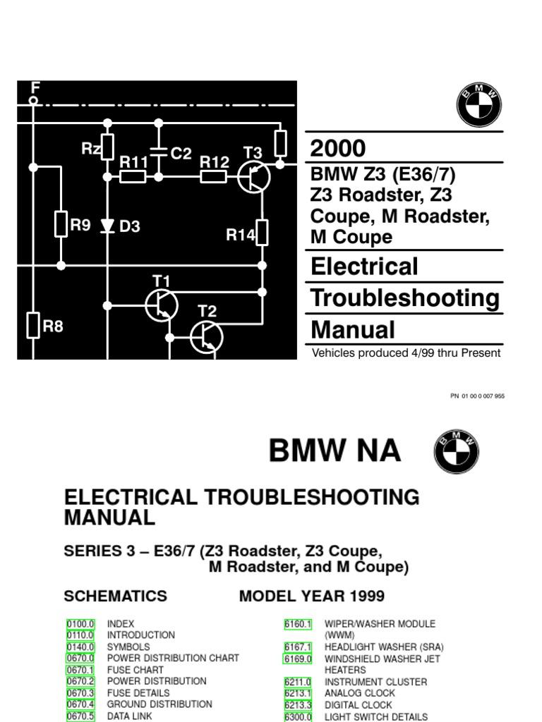 2000 bmw z3 - m roadster - z3 - m coupe electrical troubleshooting manual    anti lock braking system   vehicle parts