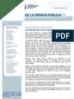 Elecciones PERU - Sondeo nacional del Instituto de Opinión Pública de la PUCP
