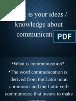 DIASS AUGUST 13..Communication