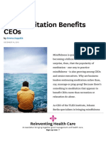 How Meditation Benefits CEOs