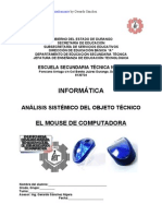Análisis Sistémico de Objeto Técnico de EL MOUSE (Ratón)