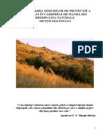 Investigarea Masurilor de Protectie a Mediului in Carierele de Piatra din Rezervatia Naturala Muntii Macinului - PRINTAT