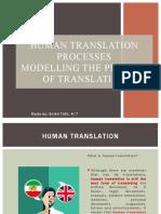 Human translation process