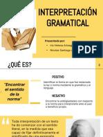 Exposicion Interpretacion Gramatical