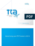 Advertising and PR Usage Trend 2010