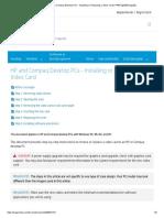 HP and Compaq Desktop PCs - Installing or Replacing a Video Card _ HP® Ügyféltámogatás