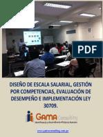 DISEÑO ESCALA SALARIAL IMPLEMENTACIÓN LEY 30709