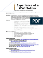 WWI Soldier Lesson Plans