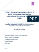 Project Report on Indian Accounting Standard and International Accounting Standard-Shubham Saindre
