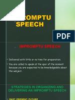 Impromptu Speech