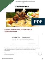 Arepa Santandereana _ Una Mezcla Mágica de Chicharrón yuca y Maíz