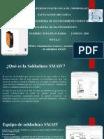 Fundamentos teóricos y metodológicos del proceso de soldadura SMAW