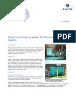 hurricane-prone emergency generators