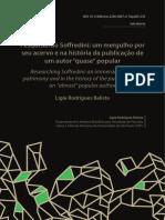 Pesquisando Soffredini um mergulho por seu acervo e na história da publicação de um autor quase popular