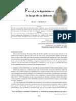 Ferrol Y Su Toponimo A Lo Largo De La Historia.