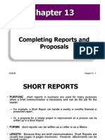 Lecture 6 7 Ch 13 Completing Reports and Proposals