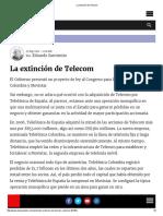 La extinción de Telecom