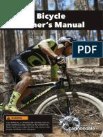 131264 Rev 0718 CD OM Bicycle Owners Manual
