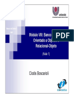 Unioeste BDI_2007_Modulo8_1 - Modelo de Banco de Dados Orientado a Objetos 44 sides
