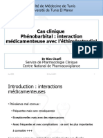 Anti epileptique cas clinique interaction méd phéno
